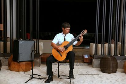 Performing at the Maui Andaz